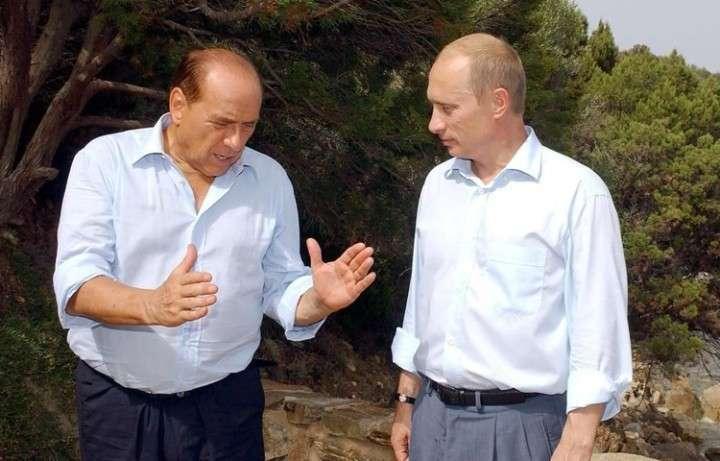 Интрига : Президент РФ и Берлускони. Снова встреча