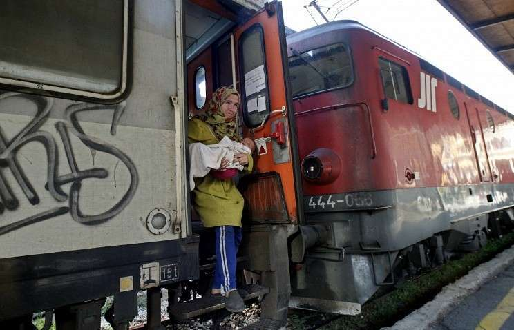 Из-за притока беженцев закрыто железнодорожное сообщение между Данией и Германией