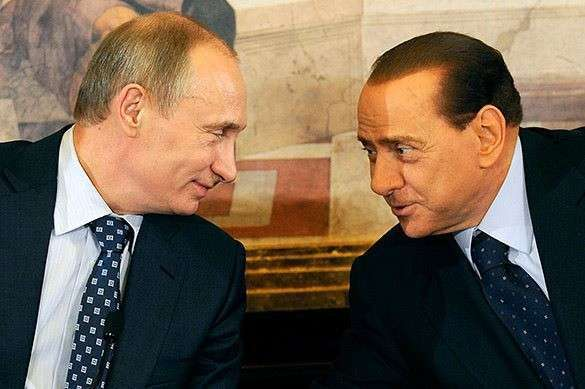 Путин и Берлускони визави