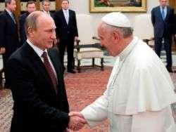 Папа римский пытается ставить условия Владимиру Путину