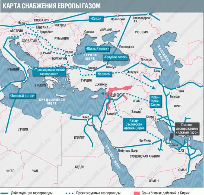 США планируют раздел Ирака и Сирии на «трубопроводные государства»
