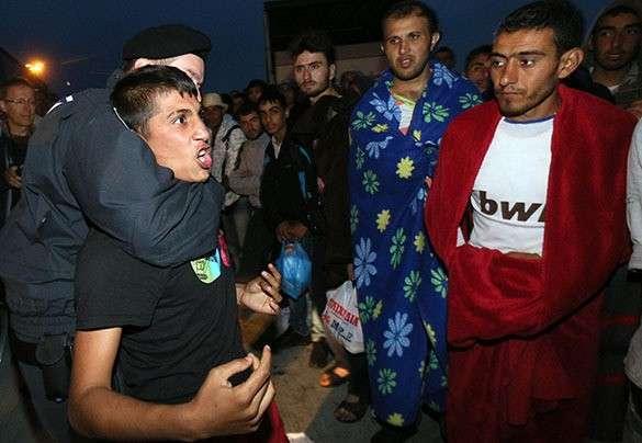 в лагере для беженцев