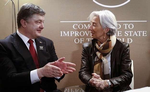Директор МВФ Лагард, Порошенко