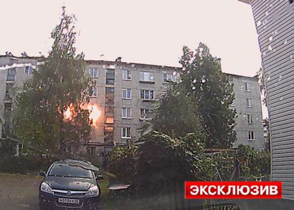 Взрыв в жилом доме Петрозаводска попал на камеру видеорегистратора