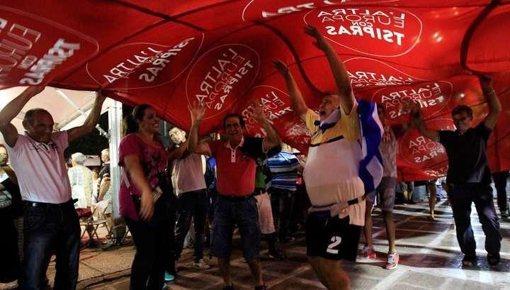 На выборах в Греции побеждает коалиция левых СИРИЗА