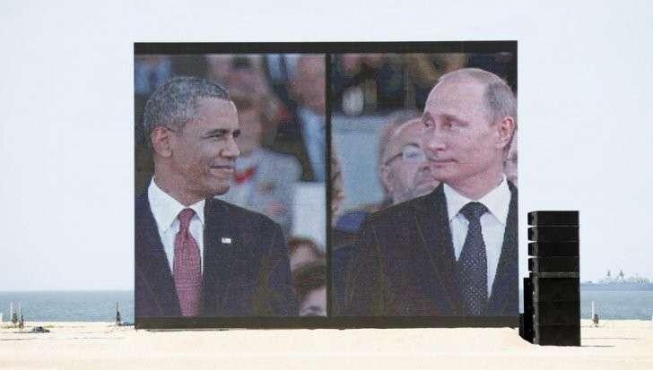 Шуточная видеобитва Владимира Путина и Барака Обамы