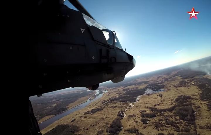 Уникальные кадры полета Ка-52. Съемки с камер GoPro
