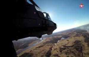 Уникальные кадры полёта боевого вертолёта Ка-52