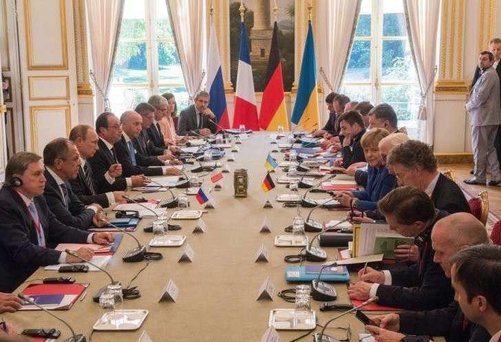 В Париже закончились переговоры лидеров «нормандской четвёрки»