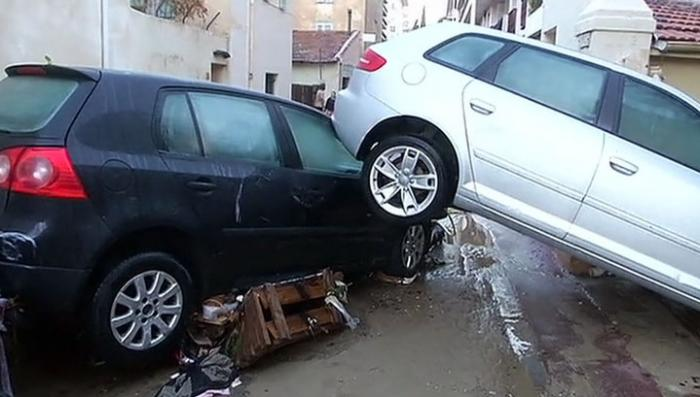 Всемирный потоп на Лазурном берегу: дождь смывал людей и дома