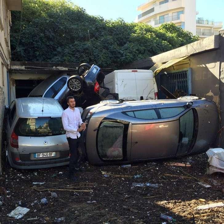 Последствия наводнения на Лазурном Берегу Франции в фотографиях и видео
