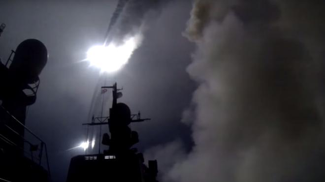 Минобороны показало, как российский флот ударил по ИГИЛ в Сирии