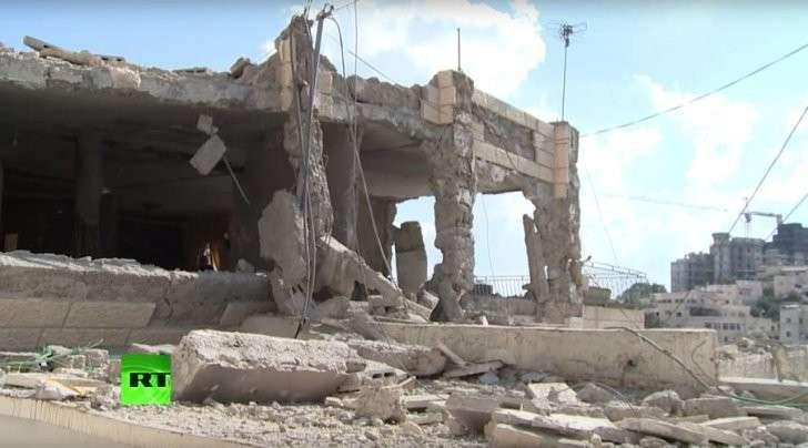 Израильские террористы снесли дома палестинских террористов