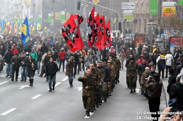Обыкновенный украинский фашизм. Много фото