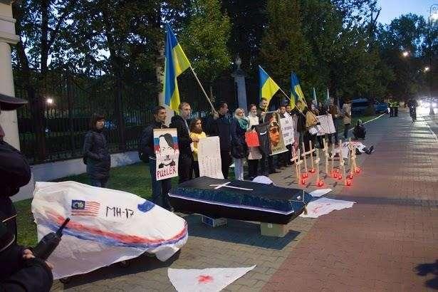 В Польше на митинг против Путина явились лишь украинские гастарбайтеры