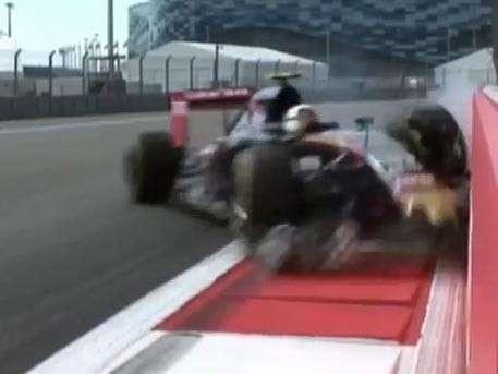 Момент аварии пилота «Формулы-1» на трассе Гран-при России попал на видео