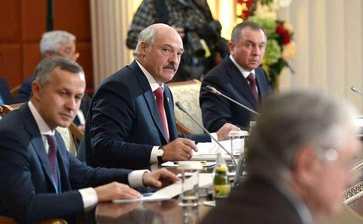 Президент Белоруссии Александр Лукашенко назаседании Высшего Евразийского экономического совета врасширенном составе.