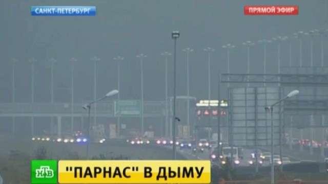 В сети появились кадры крупного пожара в Санкт-Петербурге
