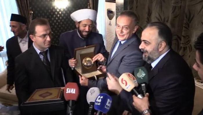Духовные лидеры Сирии подарили Владимиру Путину Коран