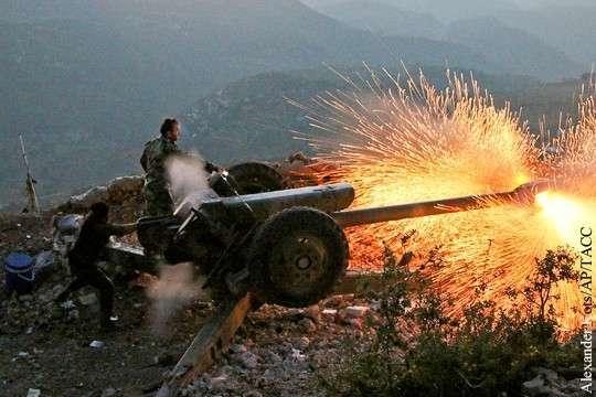 Наступление правительственных войск идет крайне медленно