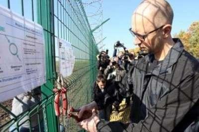 Самозванец Яценюк отказывается рассказывать, куда дел миллионы на строительство «Европейского вала»
