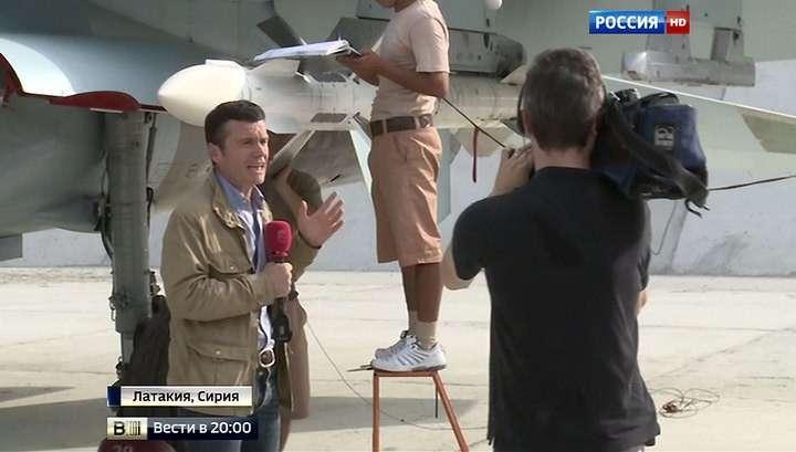 Работу российских пилотов в Сирии показали журналистам
