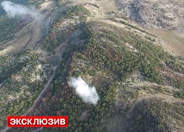 Атака сирийской армии на позиции ИГ в Латакии — съёмка с квадрокоптера