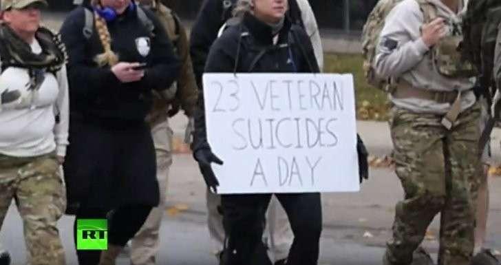 В США каждый день совершают самоубийство более 20 ветеранов