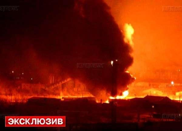 В Омске прогремел взрыв на складе нефтепродуктов