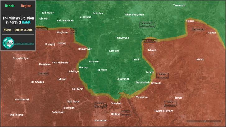 Военная обстановка в Сирии к 2 ноября 2015 года
