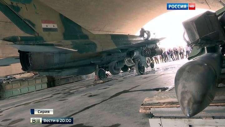 Российские и сирийские лётчики успешно бомбят террористов