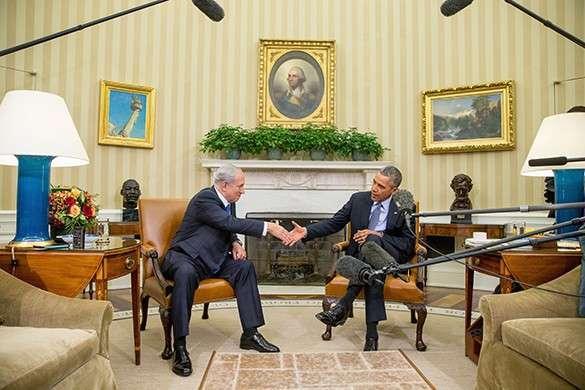 Биньямин Нетаньяху и Барак Обама в Белом доме