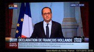 Олланд закрывает границы Франции и вводит чрезвычайное положение