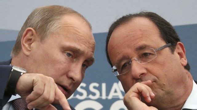 Владимир Путин о Олланд нашли общий язык