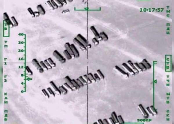 Российские самолёты уничтожили в Сирии 500 грузовиков ИГИЛ с нефтью