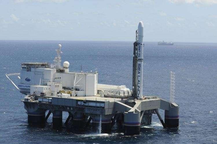 С плавучей платформы «Одиссей» в Тихом океане успешно стартовала ракета Зенит