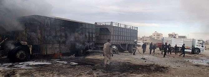 Россия уничтожила турецкий конвой, направленный боевикам в Сирию. Эрдоган молчит