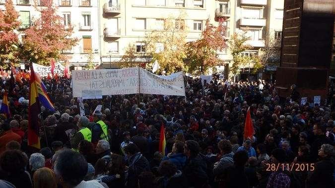 Мадрид третий день протестует против агрессии НАТО и Турции
