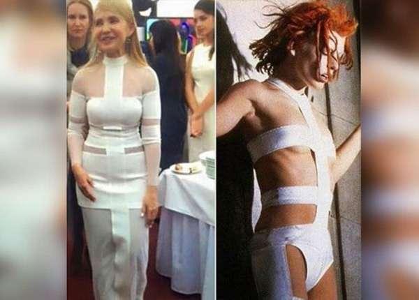 Тимошенко (Капительман) нарядилась на 55-летие в платье 6-го элемента