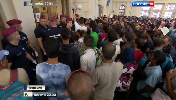 Мигрантов, застрявших в Венгрии, использовали для атаки на Париж