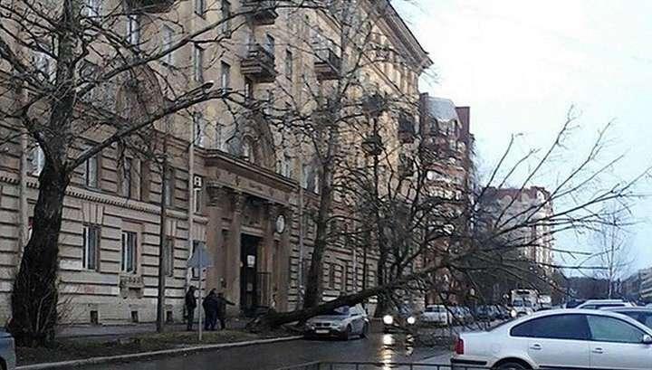 В Петербурге ухудшилась погода. Угроза наводнения сохраняется
