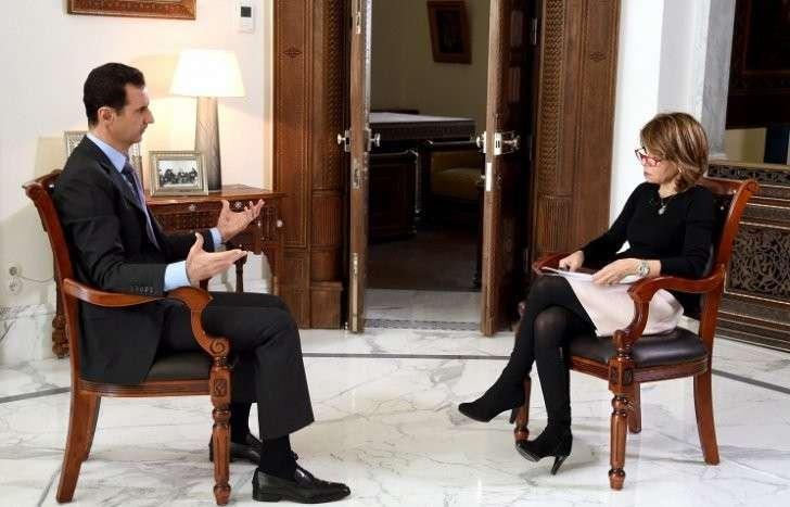 Президент Сирии Башар Асад во время интервью британской газете Sunday Times
