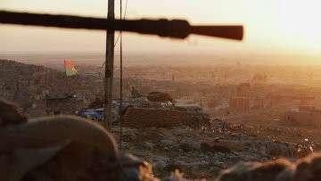 Курдские вооруженные силы в городе Синджар. 13 ноября 2015
