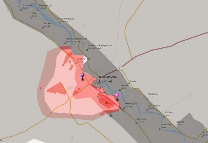 Военная обстановка в Сирии к 08.12.2015