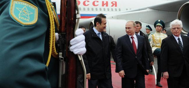 Президент Путин прибыл в Астану на подписание Договора о Евразийском Союзе