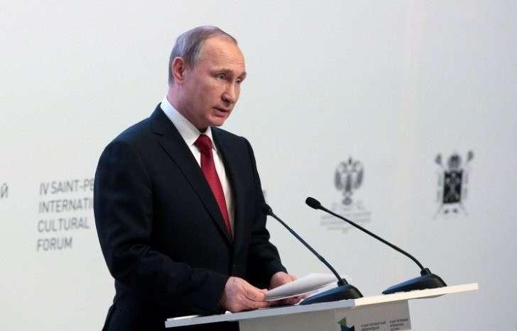 Президент России Владимир Путин на IV Санкт-Петербургском международном культурном форуме, 14 декабря