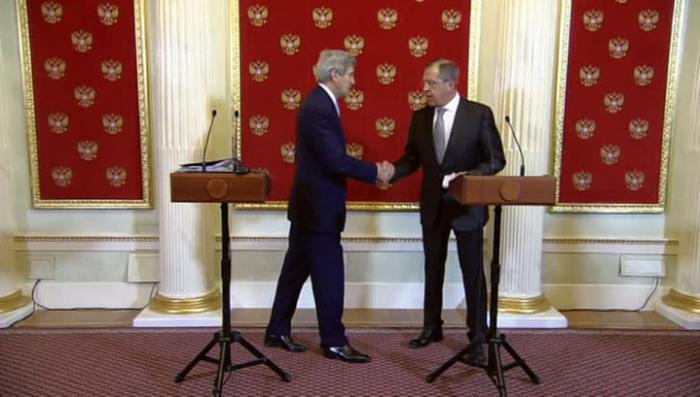 Пресс-конференция Сергея Лаврова и Джона Керри в Москве