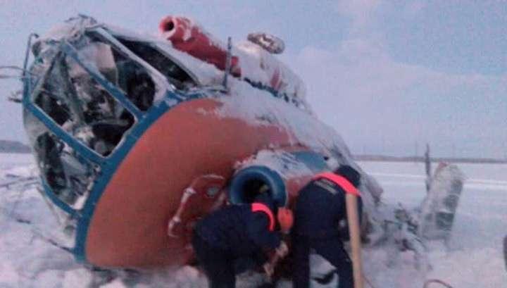 Ми-8 с газпромовцами сбило снежным зарядом
