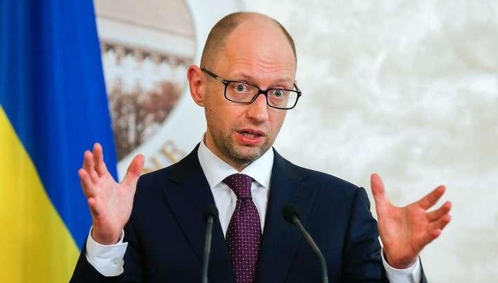Вор и самозванец Сеня Яценюк объявил о товарной блокаде Крыма