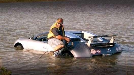 Утопившего Bugatti Veyron американца приговорили к году тюрьмы